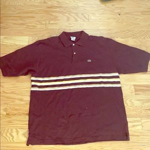 Lacoste men's burgundy red polo shirt